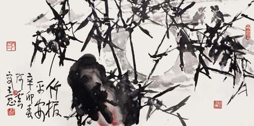 梅花水粉画简单画法-刘开云 清雅风骨 浓墨重彩的花鸟画世界