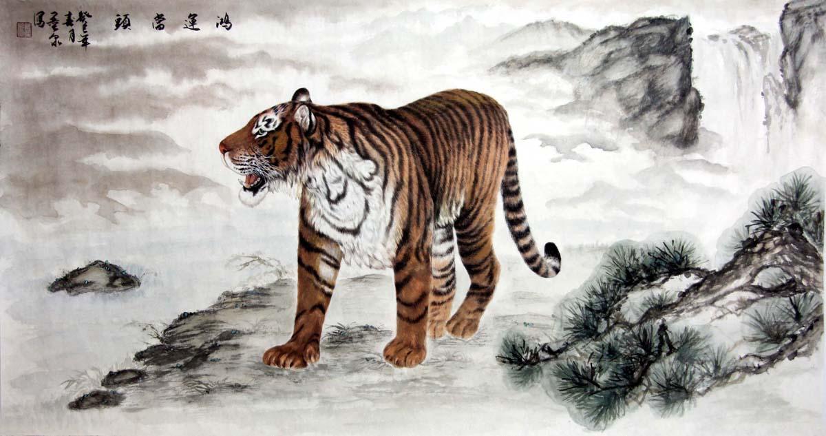 老虎字画作品